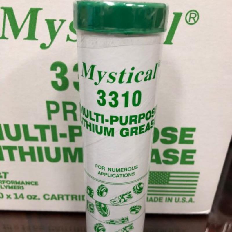【Mystical 潤滑油脂 美國】Mystical 3310 Grease、高級鋰基通用潤滑油脂、397g/條【單買】