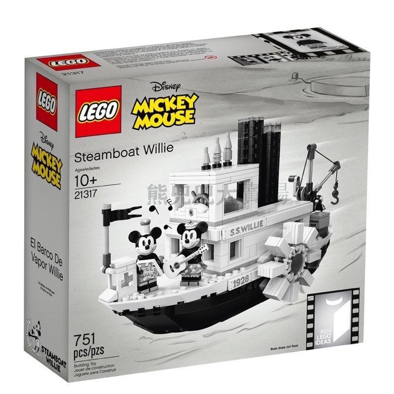 【兜兜台灣直發】LEGO 樂高 21317 IDEAS 米奇蒸汽船 威力號