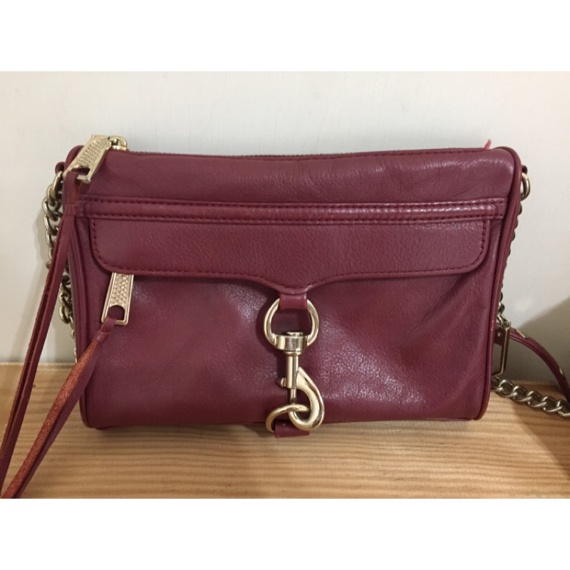 REBECCAMINKOFF mini MAC 酒紅 二手 8成新 100%正貨