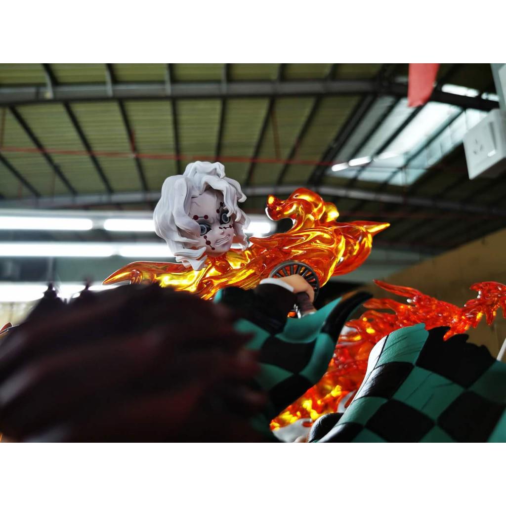 【新品 熱銷】【五十五】鬼滅之刃GK 逆刃 炭治郎VS累 日之呼吸 手辦模型雕像
