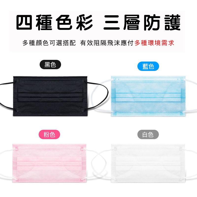 防疫專區 黑色口罩 非醫療 三層防護 防塵 獨立包裝 防疫 口罩 防飛沫