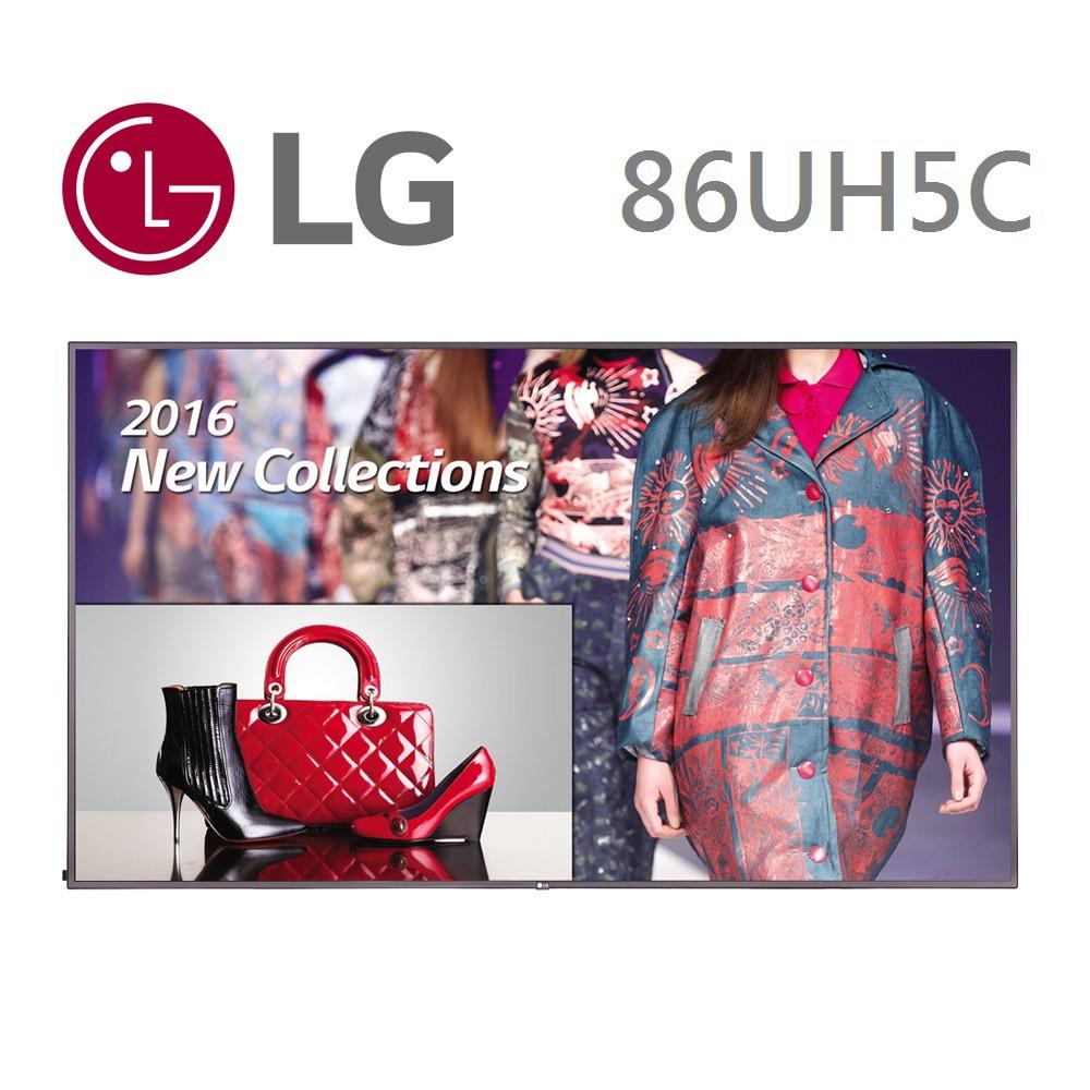 LG 樂金86吋4K超智慧商用顯示器86UH5C