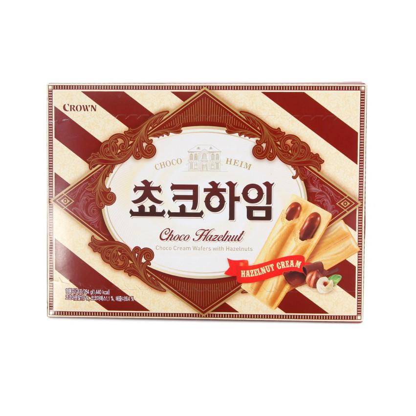 [韓國直送][可拉奧 CROWN] 榛果巧克力威化酥 284g