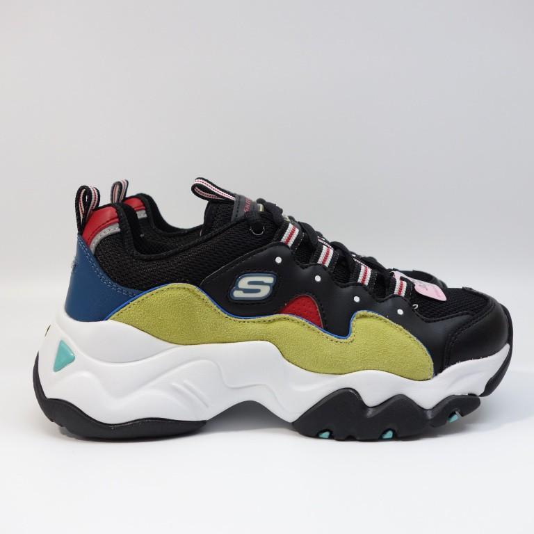 SKECHERS D'LITES 3.0 女生鞋 12955BKYL 女生 老爹鞋 休閒鞋【DELPHI】