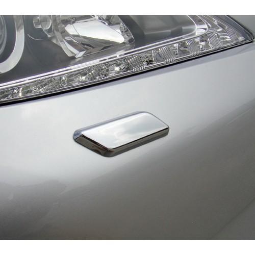 圓夢工廠 Lexus 2012~2015 ES250 ES300h ES350 改裝 前保桿鍍鉻銀噴水蓋飾貼 洗燈器飾蓋