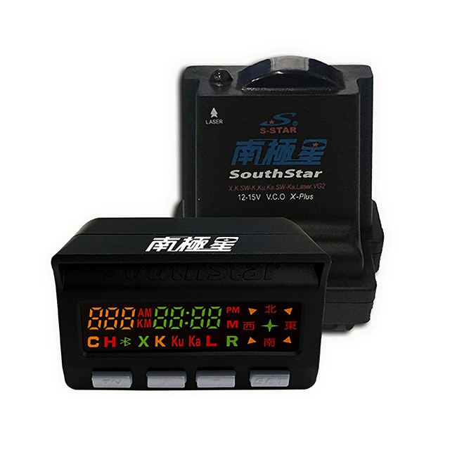 南極星 GPS-858+雷達 彩屏雙顯示 分體測速器 [送安裝] (禾笙科技)