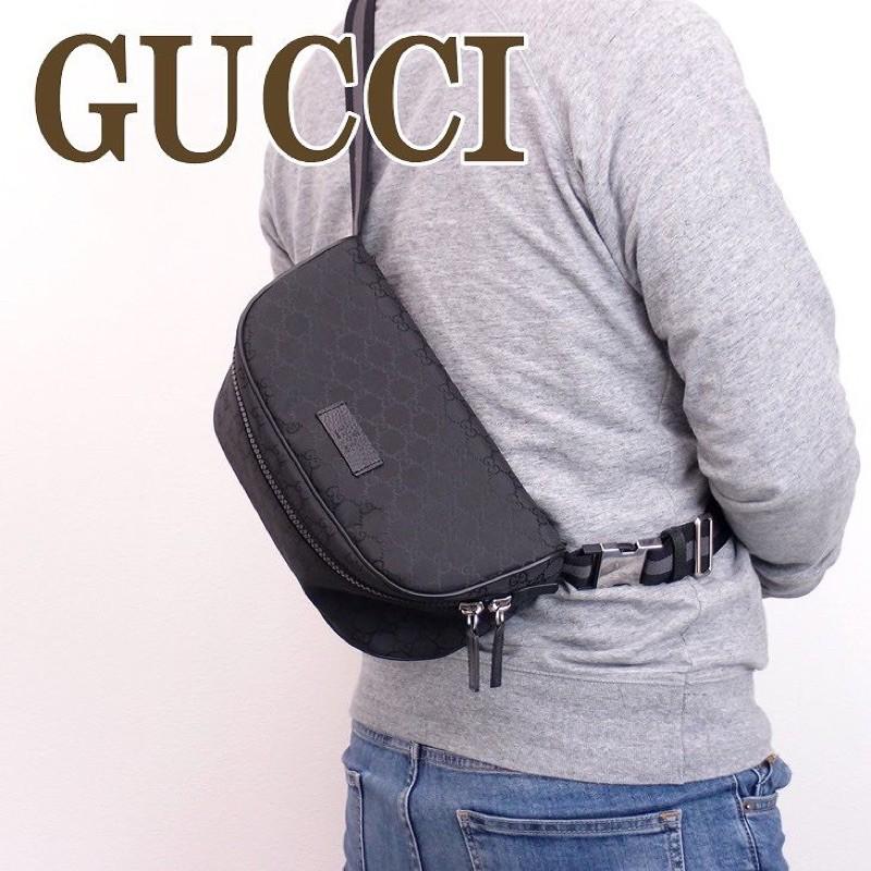 Gucci 449182 經典雙G緹尼龍腰包