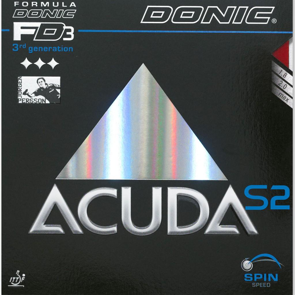 【Spinvo運動聯盟】支持公司貨➤DONIC ACUDA S2 桌球膠皮
