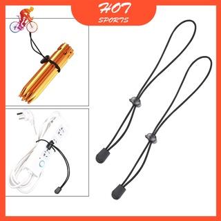 2x可調彈性繩26厘米野營徒步桿棒系扣