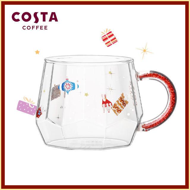 【漁小瓷現貨】COSTA杯子少女心水杯日系聖誕馬克杯耐熱玻璃高硼硅玻璃杯ins風