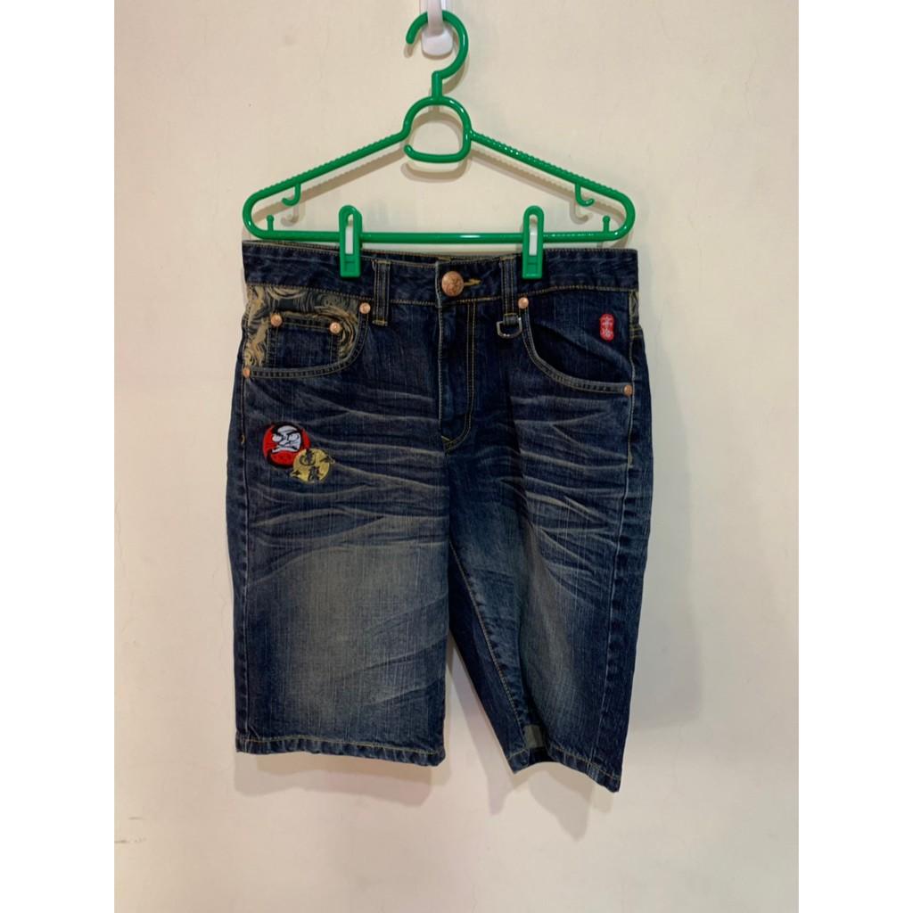 「 二手衣 」 BIG TRAIN 牛仔短褲 M號 C