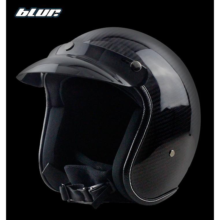 VOSS碳纖維哈雷頭盔/安全帽男女款摩托車/機車半盔夏盔太子盔復古四季頭盔/安全帽
