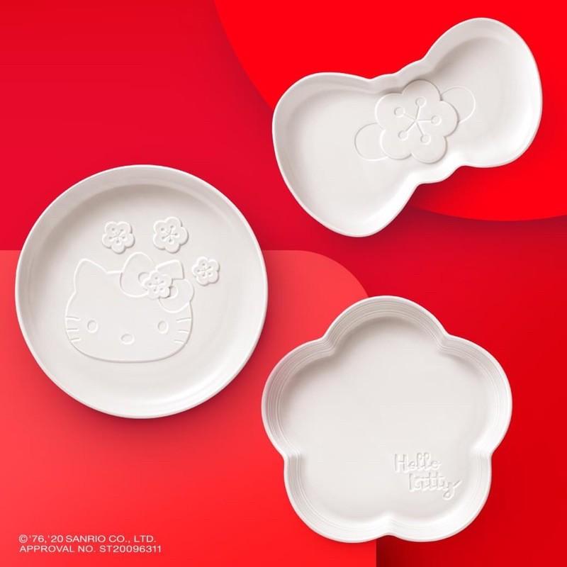 老協珍 Hello Kitty花喜福滿3件組(僅售造型盤 不含內容物)