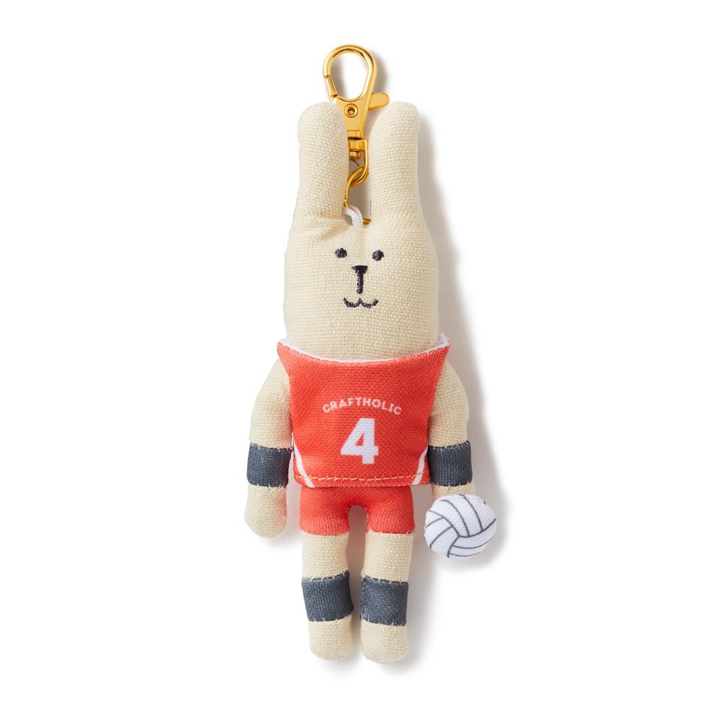 CRAFTHOLIC 宇宙人 排球選手兔吊飾 (限定款)
