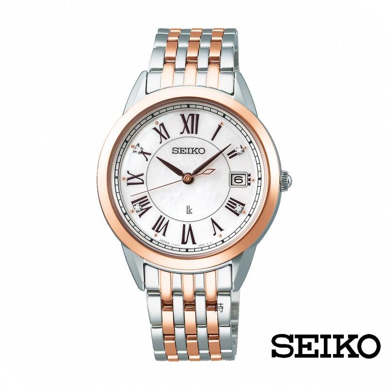 SEIKO精工 太陽能 SUT394J1 (V147-0CR0K) 羅馬字腕錶