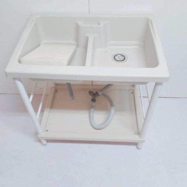 全新 塑鋼水槽 免運費 雙槽 洗衣槽 水槽