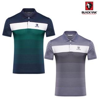 【BLACKYAK】男細條紋短袖POLO衫 [海軍藍/ 灰色] 短袖 POLO衫   BY181MC105 臺北市
