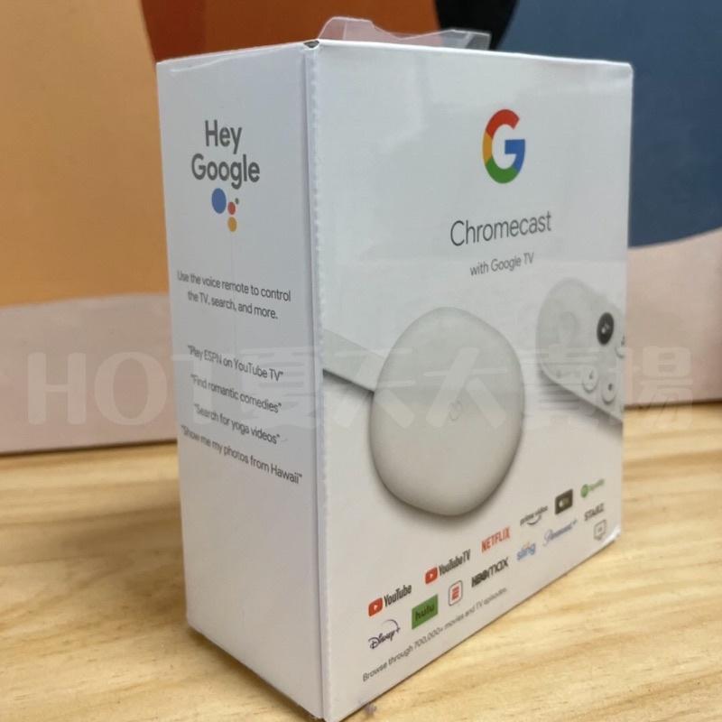 『現貨台中西區自取/當天出貨』露營必備Chromecast with Google TV第四代 讓電視變智慧電視