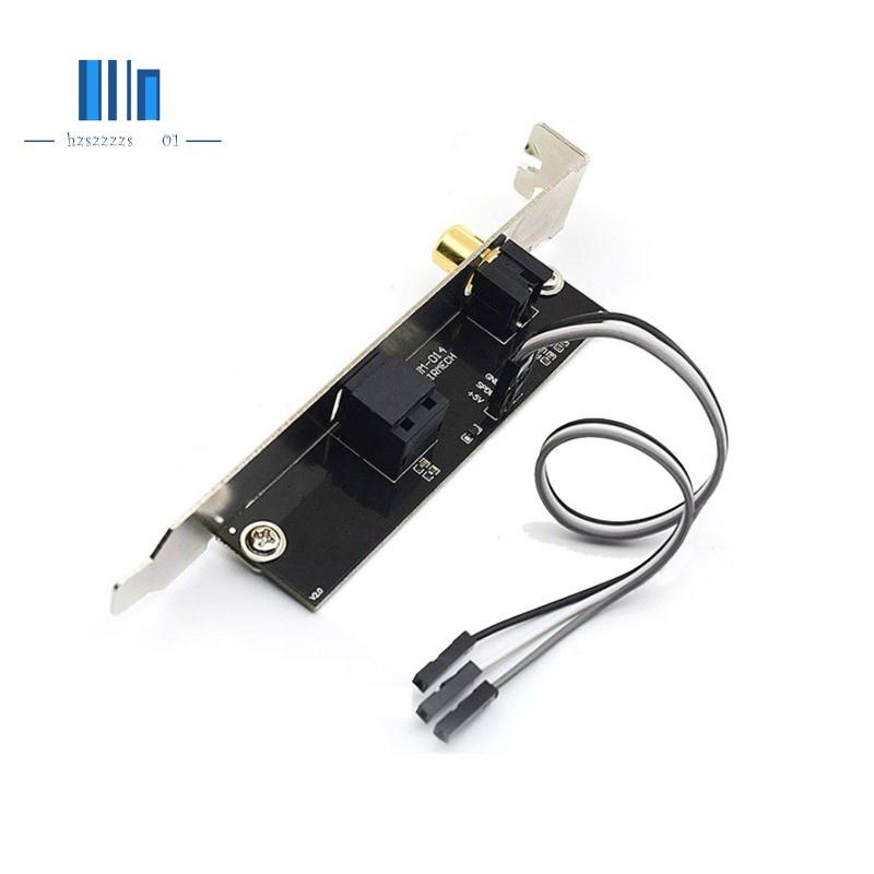 【現貨折扣甩賣】SPDIF光纖和RCA輸出板電纜支架數字音頻輸出,適用於華碩千兆MSI主板