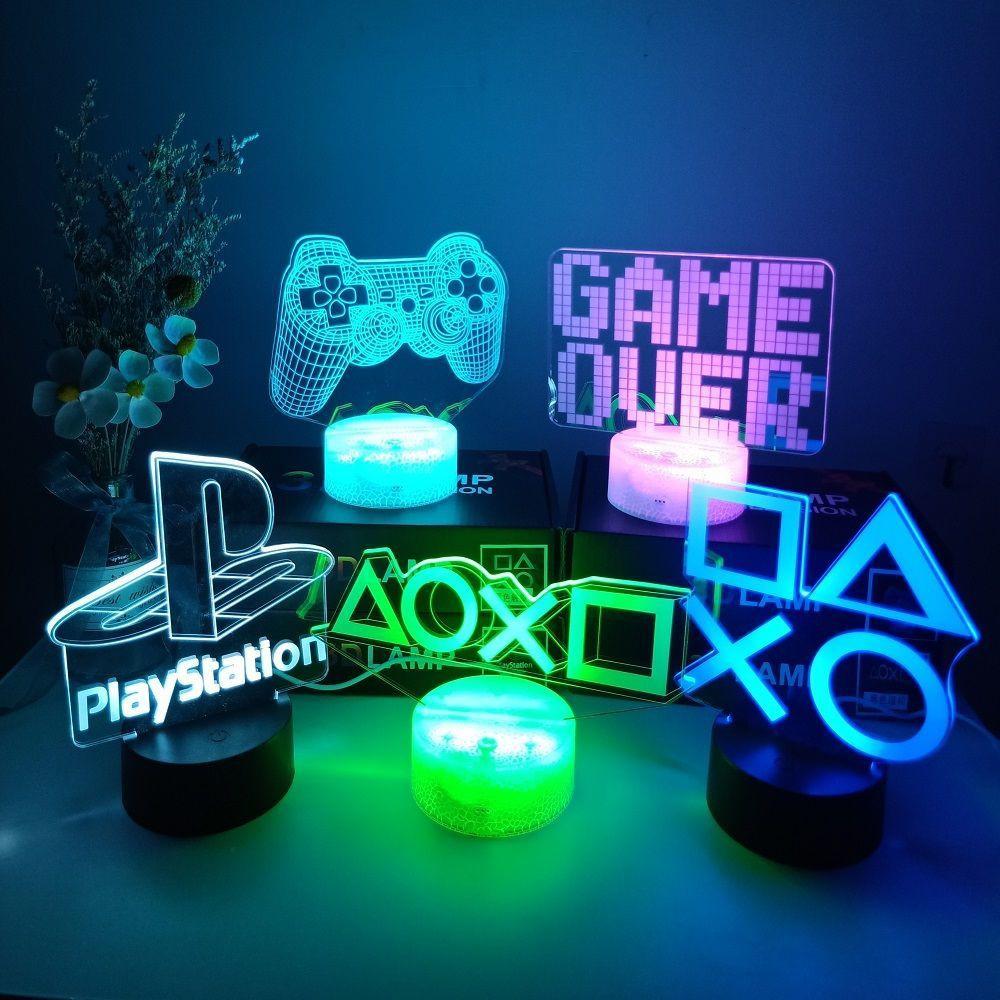 ♡3D夜燈♡電競燈XBOX游戲小夜燈電競游戲機箱擺件手辦燈索尼PS5周邊擺件燈