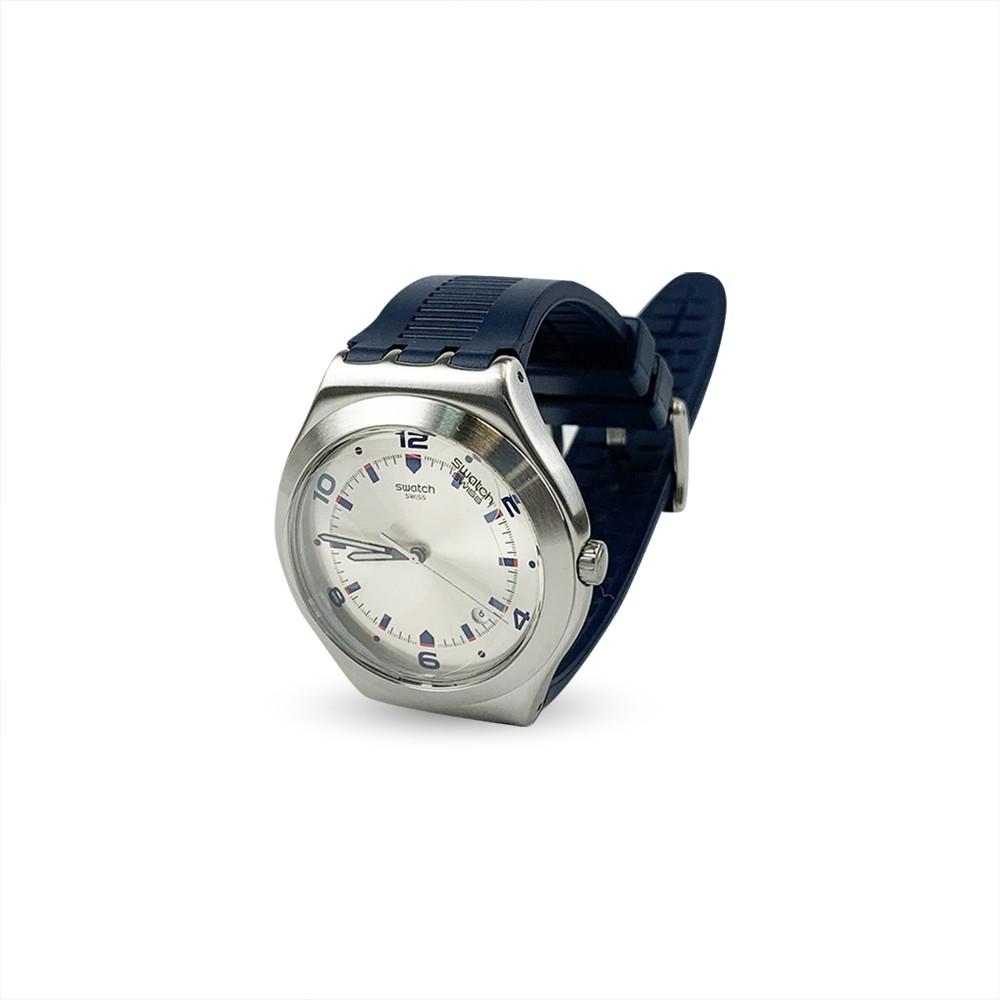 Swatch BRUT DE BLEU 日期 腕錶 手錶 藍 YWS431