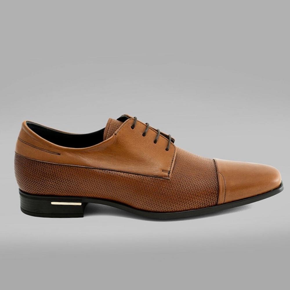 Angel Infantes 全真皮鏤空皮鞋-棕色