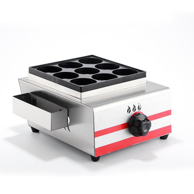 (臺灣現貨)魅廚9孔紅豆餅機燃氣雞蛋漢堡機爐商用蛋堡機漢堡機雞蛋肉餅機