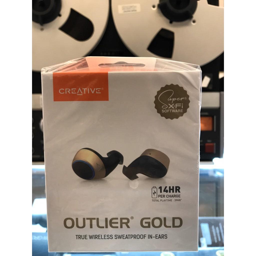 東京快遞耳機館 開封門市 Creative Outlier Gold 搭載Super X-Fi 技術