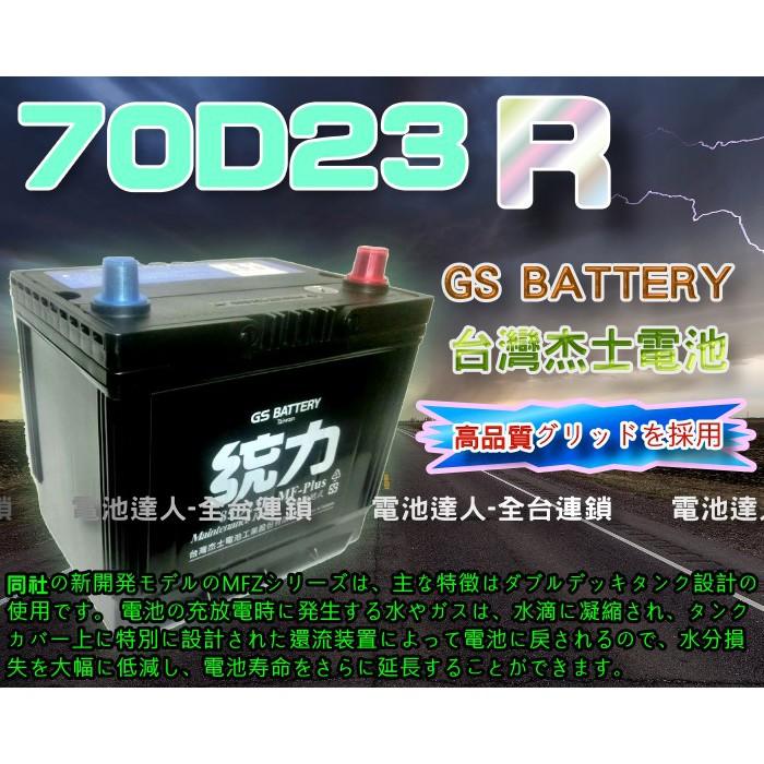 【電池達人】GS 杰士 70D23R 統力 汽車電池 納智捷S5 U5 U6 DELICA GALANT GRUNDER