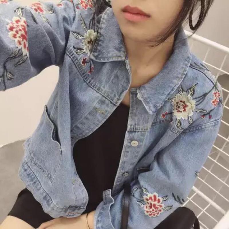 刺繡牛仔外套【NE-3299】