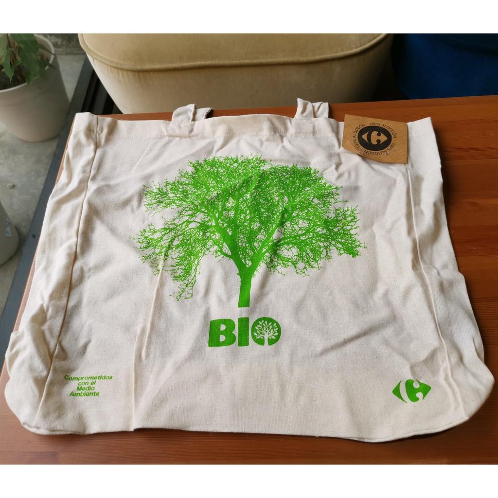 西班牙家樂福100%純棉環保購物袋