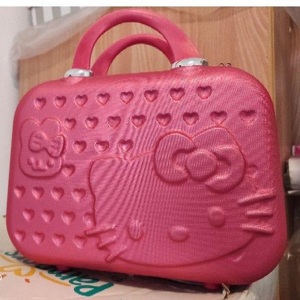 Hello Kitty旅行箱 行李箱 手提包 化妝箱 化妝包 結婚手提箱 14吋