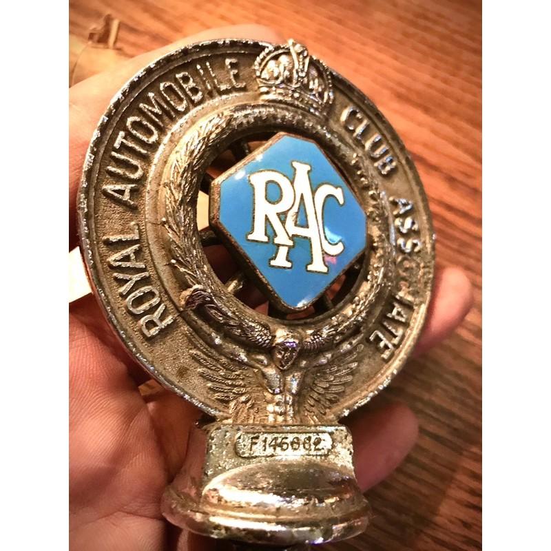 RAC 英國皇家汽車協會 車徽 鐵牌 車牌 古董車 mini 偉士牌 蘭美達 摩斯風 摩德 mods 60年代 老爺車