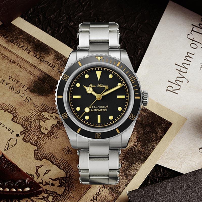san martin 聖馬丁 機械錶 全金屬潛水錶 水鬼 復古錶