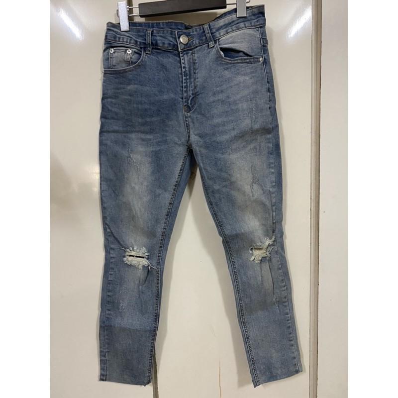 record窄版牛仔褲