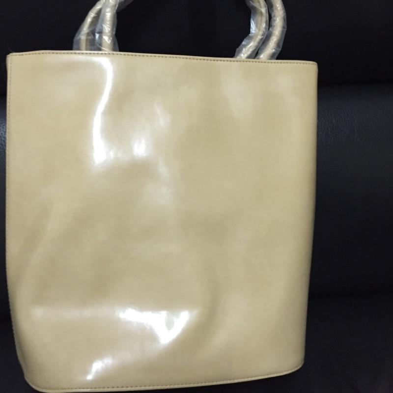 杏色 長手提包