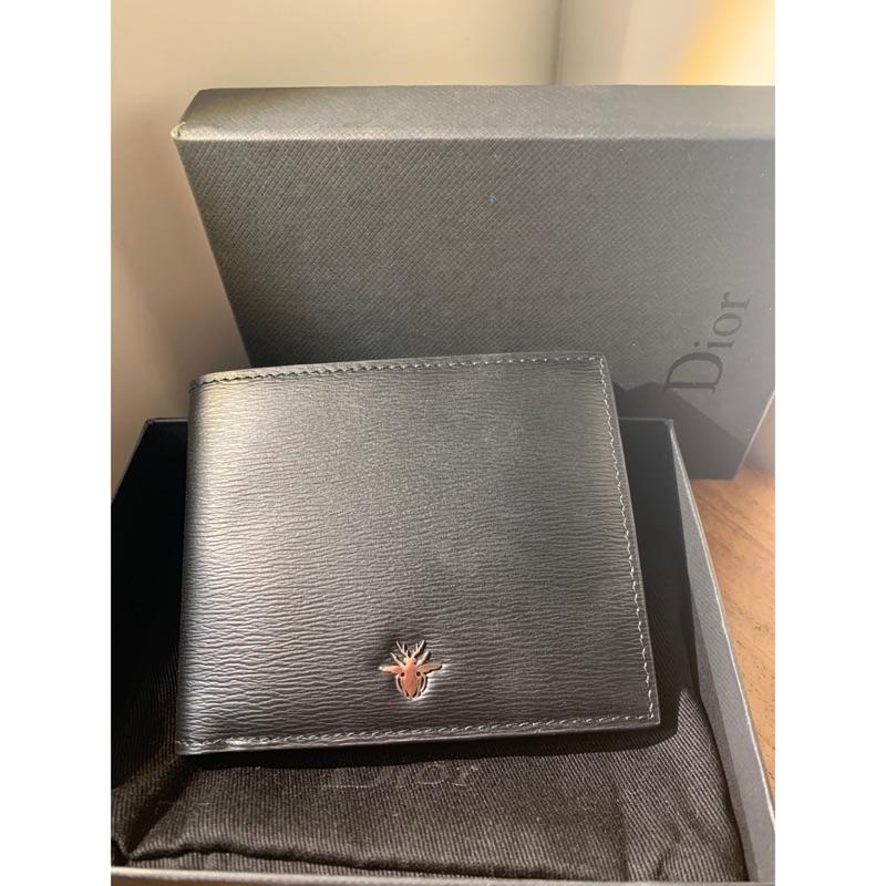 【正品】Dior 迪奧 Homme 全新 牛皮皮夾 黑色 短夾