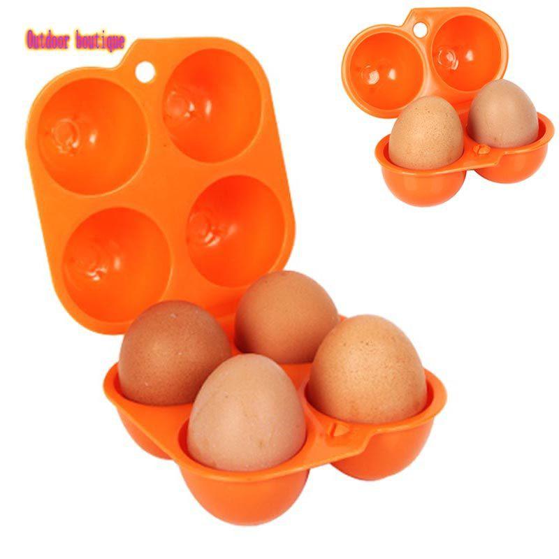 GMY便攜式2/4格雞蛋收納托盤盒托架折疊紙箱支架,用於戶外露營Picni