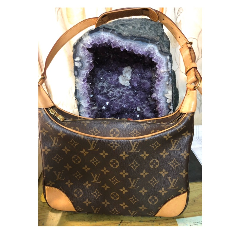 《二手》LV 經典老花 monogram 牛角包 M51265vintage 30cm Louis Vuitton