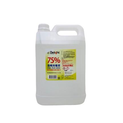 『大欣』箱購4公升6罐入-食用酒精75%酒精消毒清潔液-非藥用
