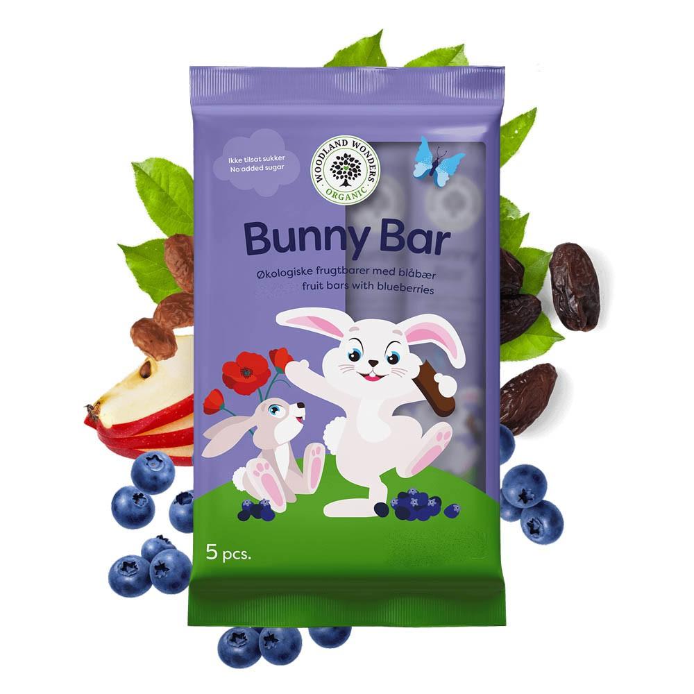 【PALIER】Bunny Bar 丹麥維根藍莓水果條 (5條/包)
