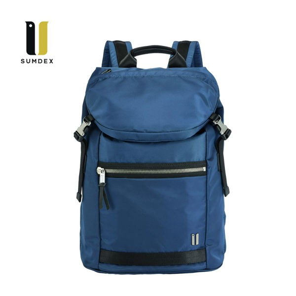 SUMDEX 14.1吋+10吋平板 城市潮流後背包NON-793BU藍色
