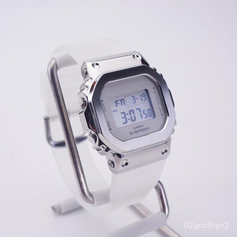 卡西歐金屬小方塊銀塊玫瑰金SMFK同款手錶女GM-5600SK GM-S5600PG