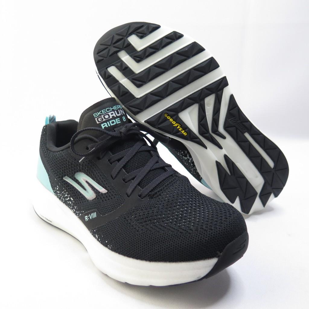 Skechers GO RUN RIDE 8 運動鞋 15224WBKTQ 女款 黑水藍【iSport愛運動】