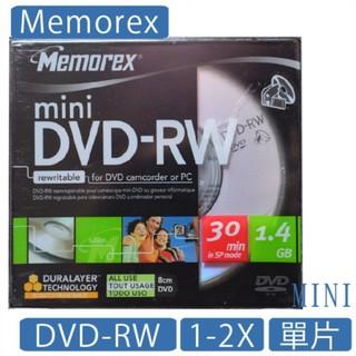 memorex 8公分 MINI DVD-RW 1-2X CAM 單片 台灣製造 光碟 DVD 台北市