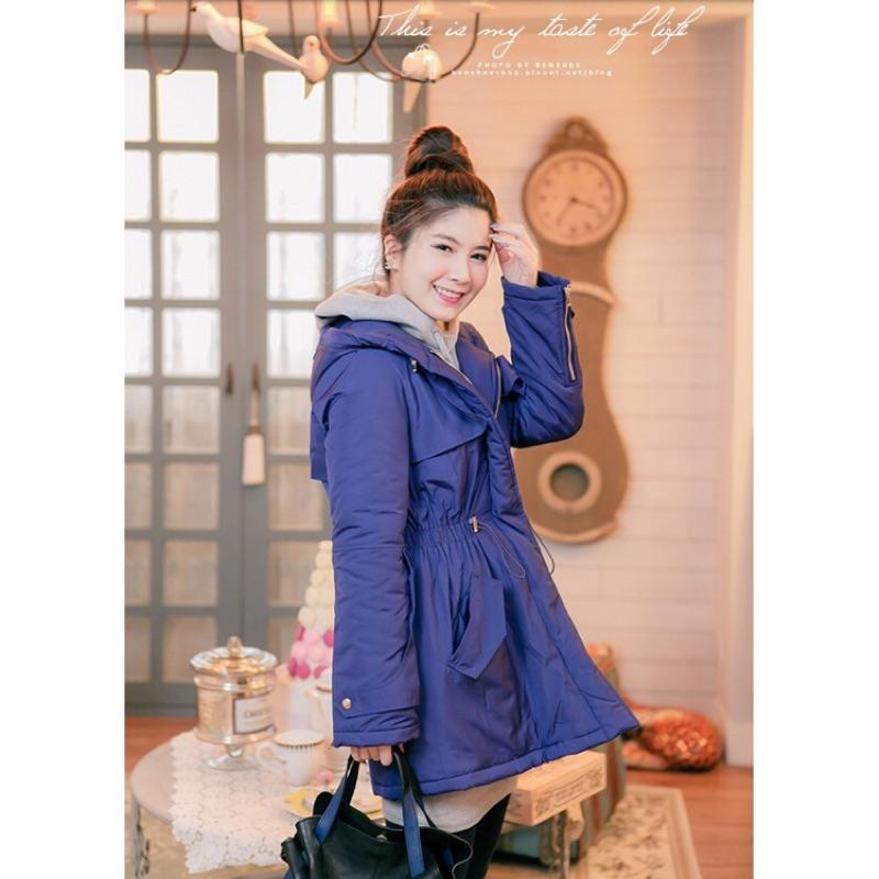 轉賣 GUMZZI 神美紫hen保暖連帽縮腰鋪棉外套