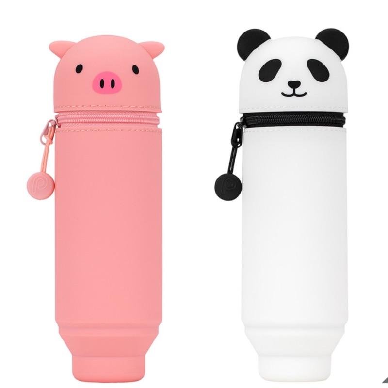 好市多代購~Lihit Lab動物造型筆袋2入(小豬&貓熊)