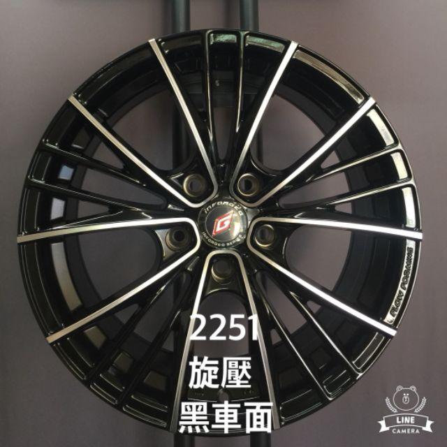 PDW 旋壓輕量17吋5/100黑車面鋁圈 WISH ALTIS SIENTA(88不是商品實際售價 請洽詢)