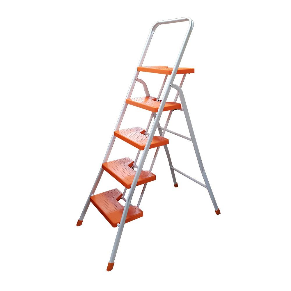 MIT(外銷日本)耐重大平台輕量防滑多功能五階鐵梯