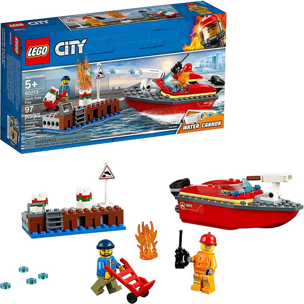 【益智天堂】 樂高 LEGO 60213 碼頭火災 城市系列